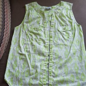 American Eagle Sleeveless Green Top